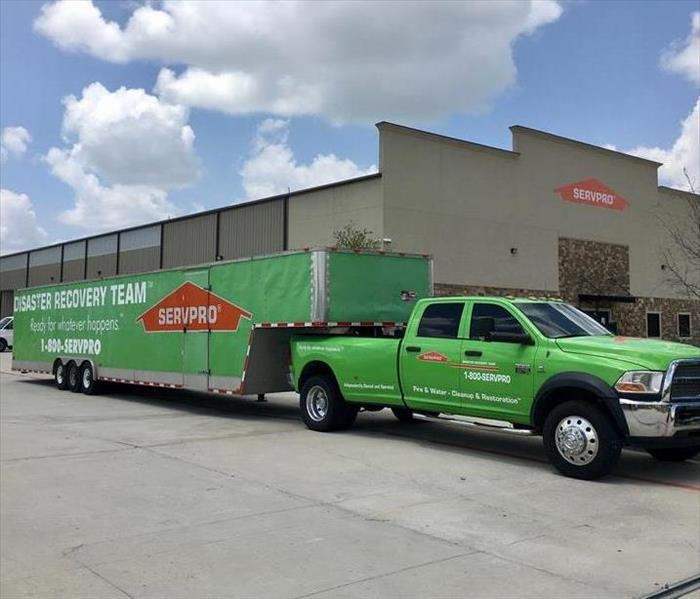 SERVPRO truck in front of SERVPRO warehouse