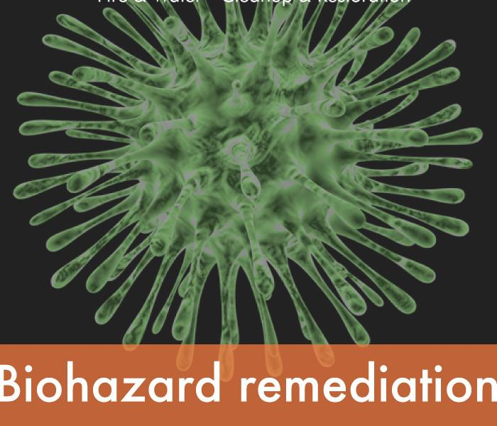 a graphic that says biohazard cleaning