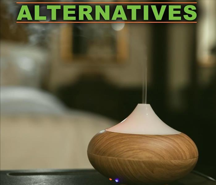 Aroma oil diffuser, on the top says ALTERNATIVES